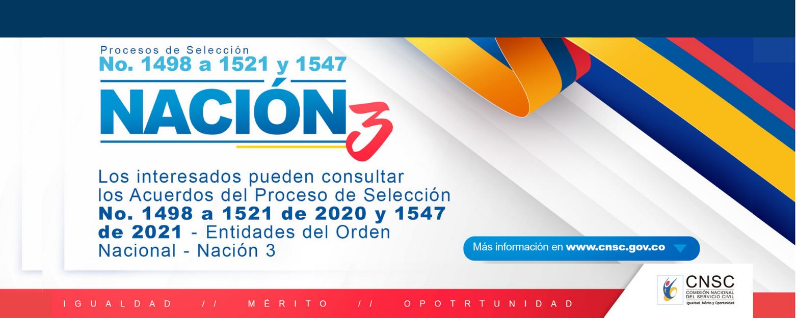 Proceso de selección Nación 3 de 2020