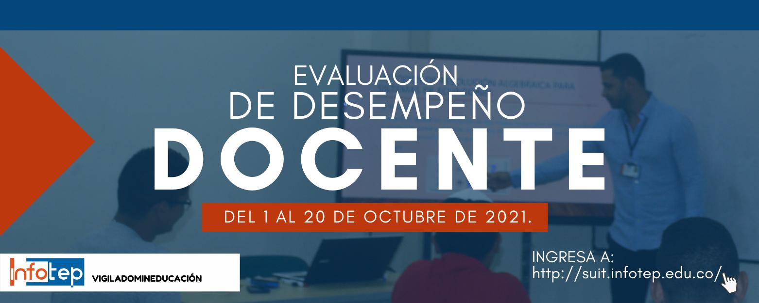 Evaluación desempeño docente 2021 - II