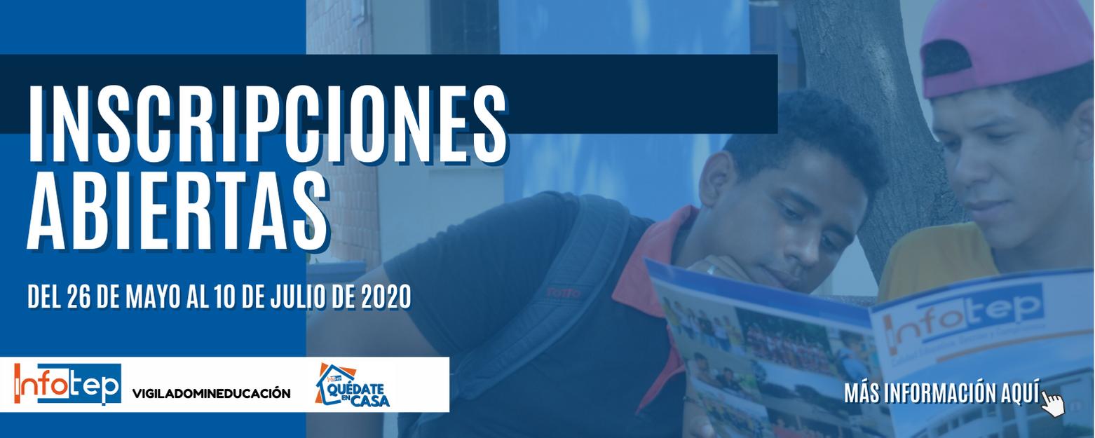 Inscripciones abiertas 2020 - II