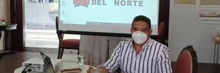 El Rector, Luis Alfonso Pérez Guerra visito la Universidad del Norte en busca de la creación de un convenio macro.