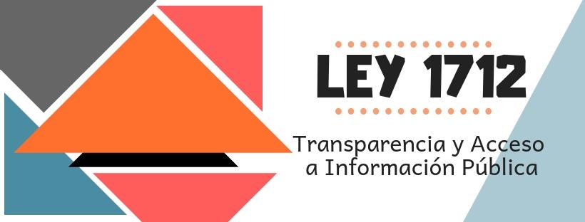 Ley 1712 Transparencia